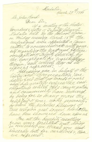 Letter to John Bard