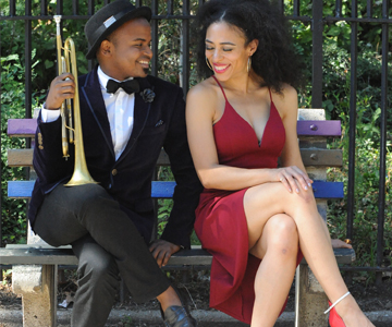 [French Connection:Django Reinhardt and the French Salon] Alphonso Horne and Candice Hoyes, photo by Sarah Escarraz