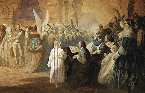 [Special EventBard Music Festival Gala Dinner] Chopin's Polonaise (Ball in Hotel Lambert in Paris), 1859 by Teofil Kwiatkowski. Culture images/Lebrecht