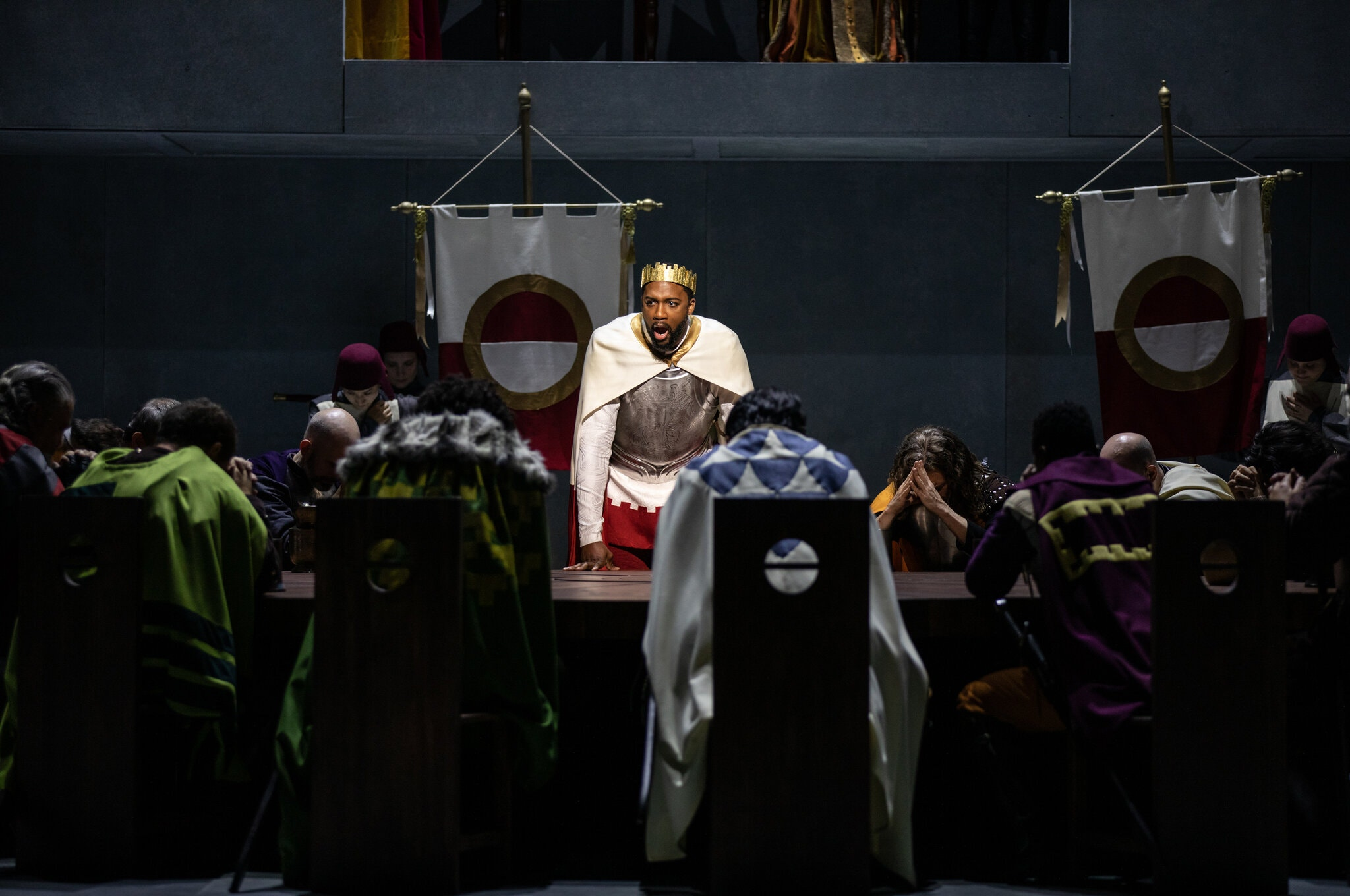 """Norman Garrett, center, in the title role of Chausson's """"Le roi Arthus"""" (""""King Arthur"""") at the Bard SummerScape festival. Photo by Maria Baranova"""