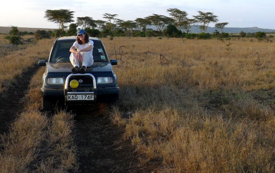 Bard Biology Professor Felicia Keesingdoing fieldwork on tick-borne diseases in the Laikipia District of Kenya