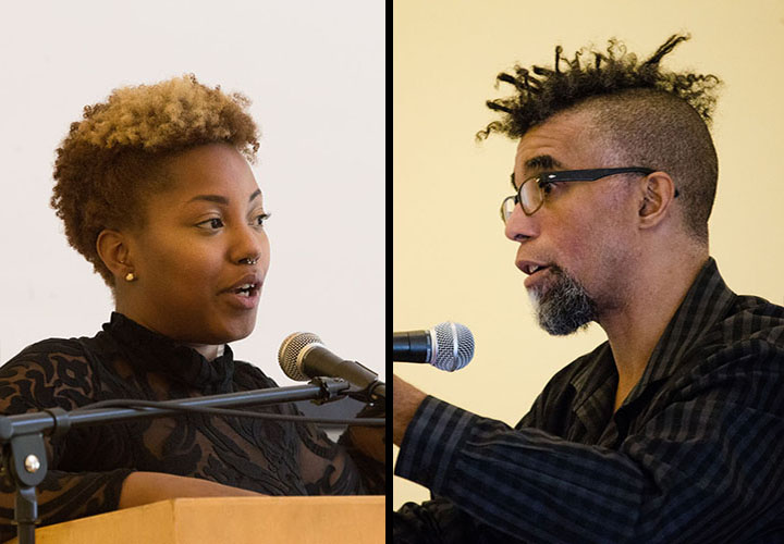 Guest artist Clifford Owens speaks with Teach-In coorganizer Natalie Desrosiers.