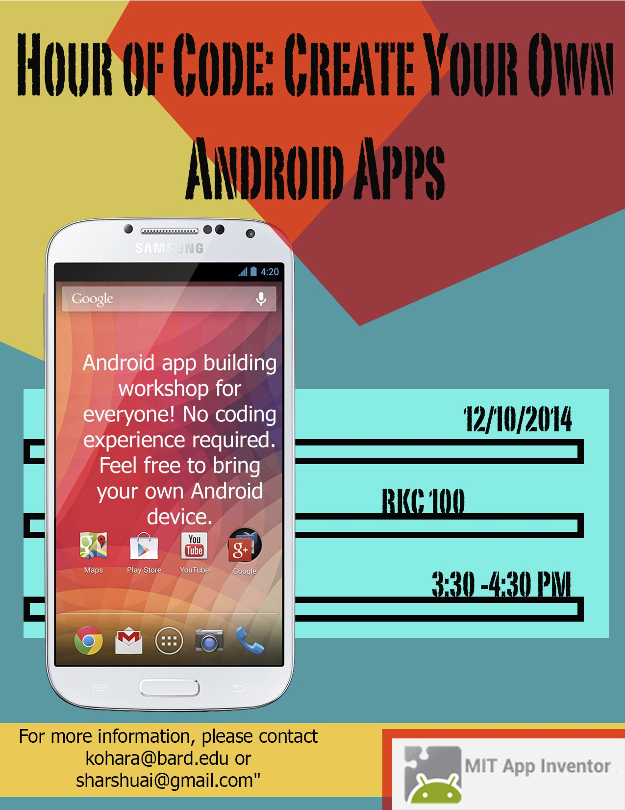 [Hour of Code: Create Your Own Android Apps]