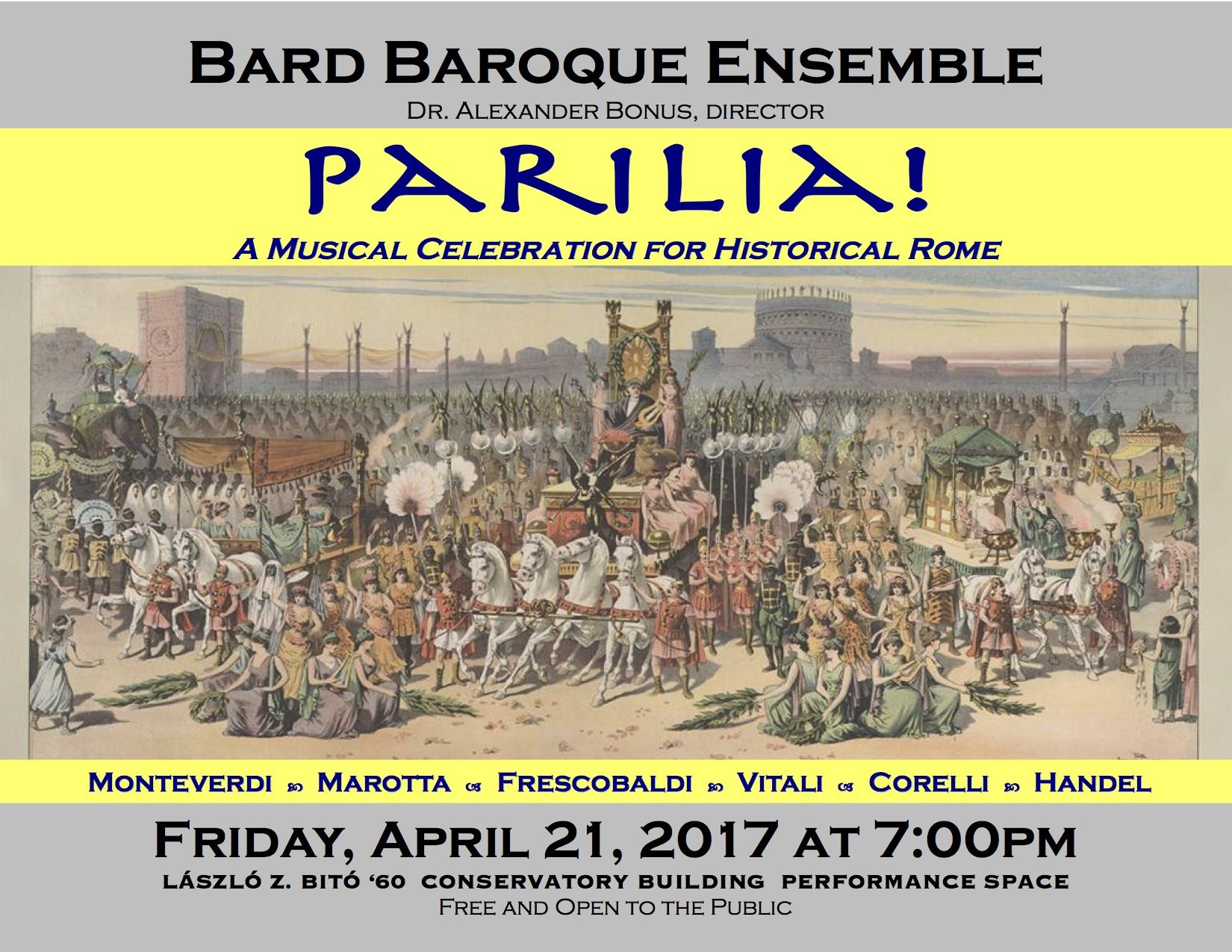 [The Bard Baroque Ensemble]