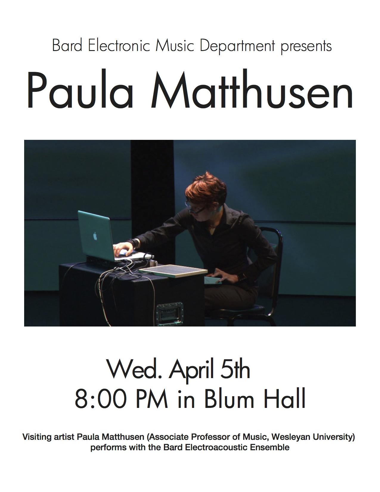 [Paula Matthusen (visiting artist)]