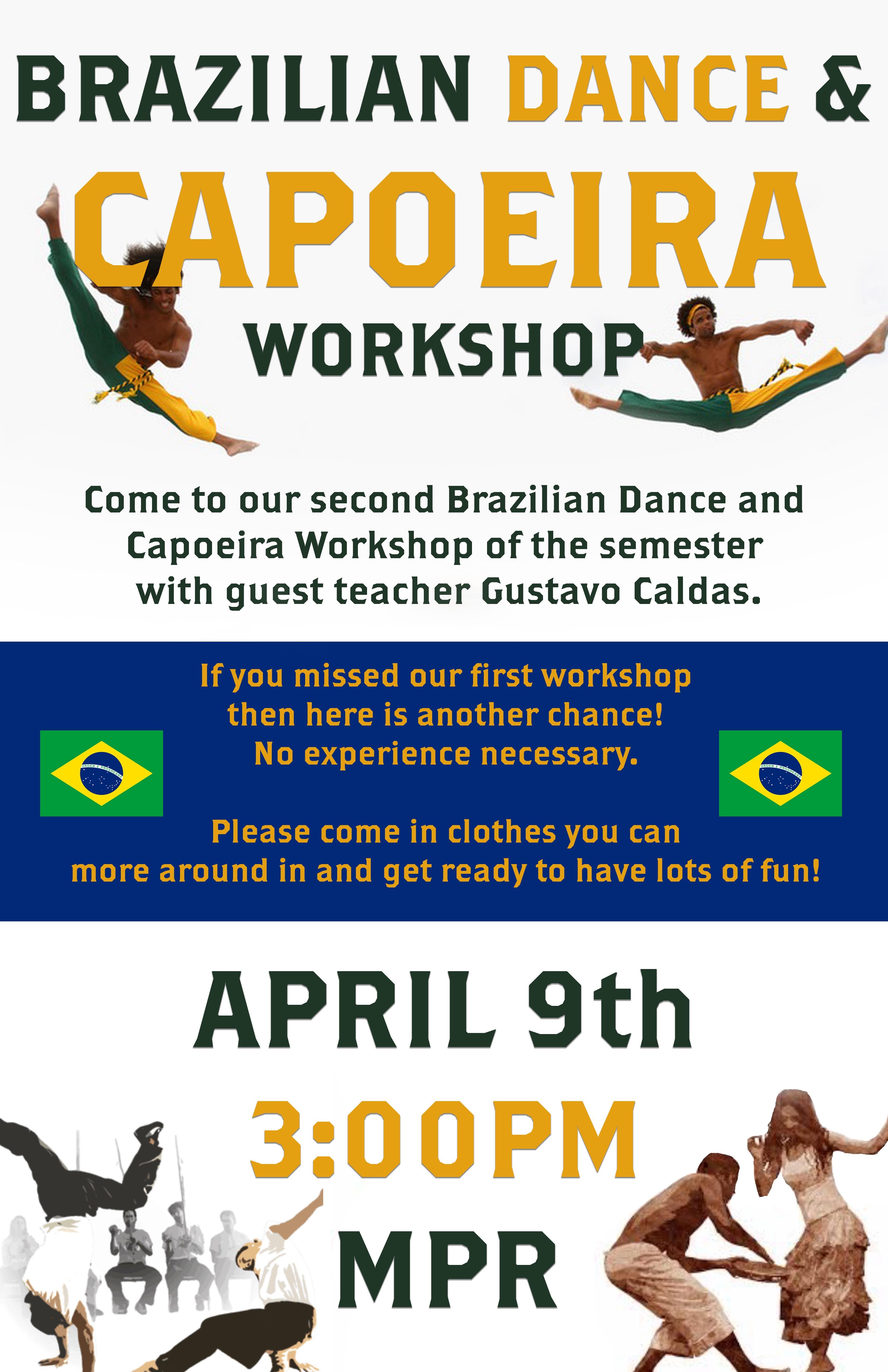 [Brazilian Dance and Capoeira Workshop - with Guest Teacher Gustavo Caldas]