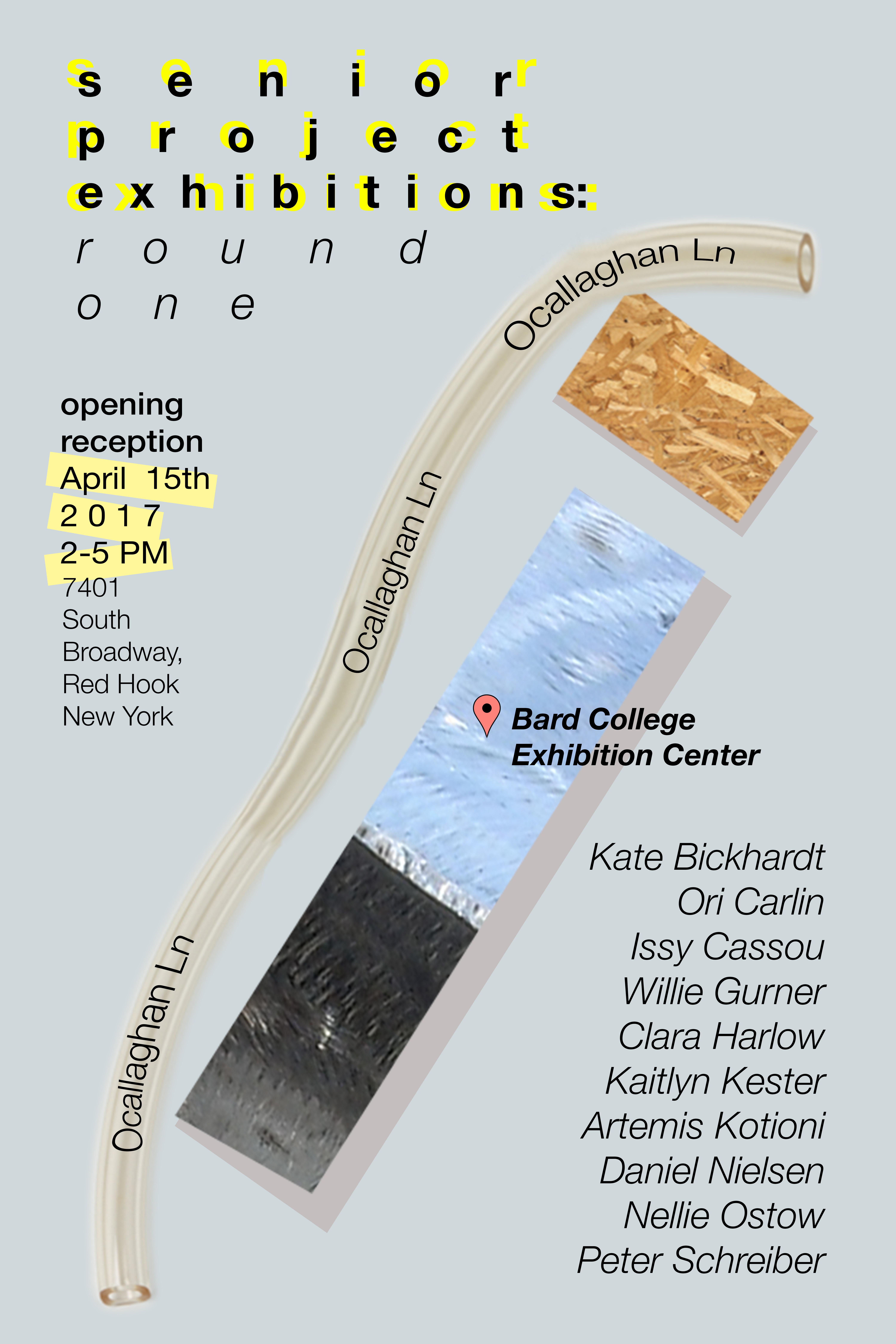 [Studio Arts Senior Exhibitions: round one]