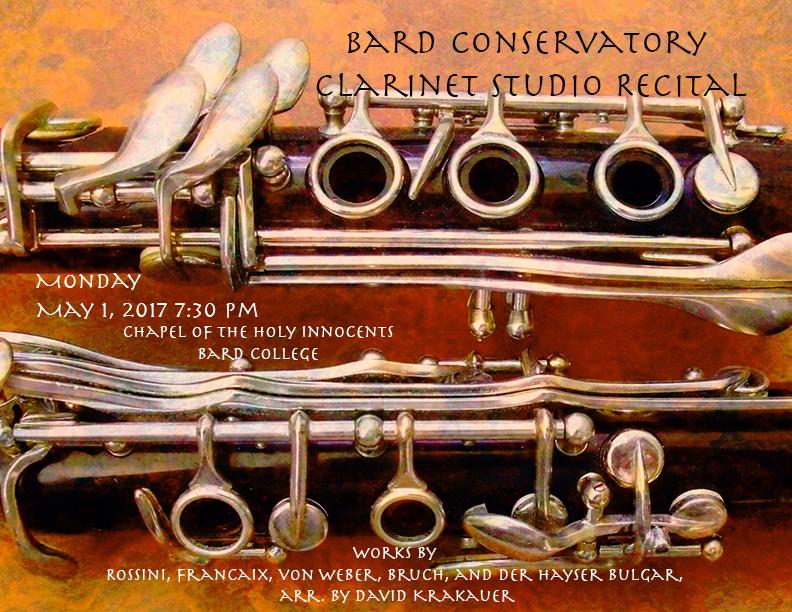 [Bard Conservatory Clarinet Studio Recital]