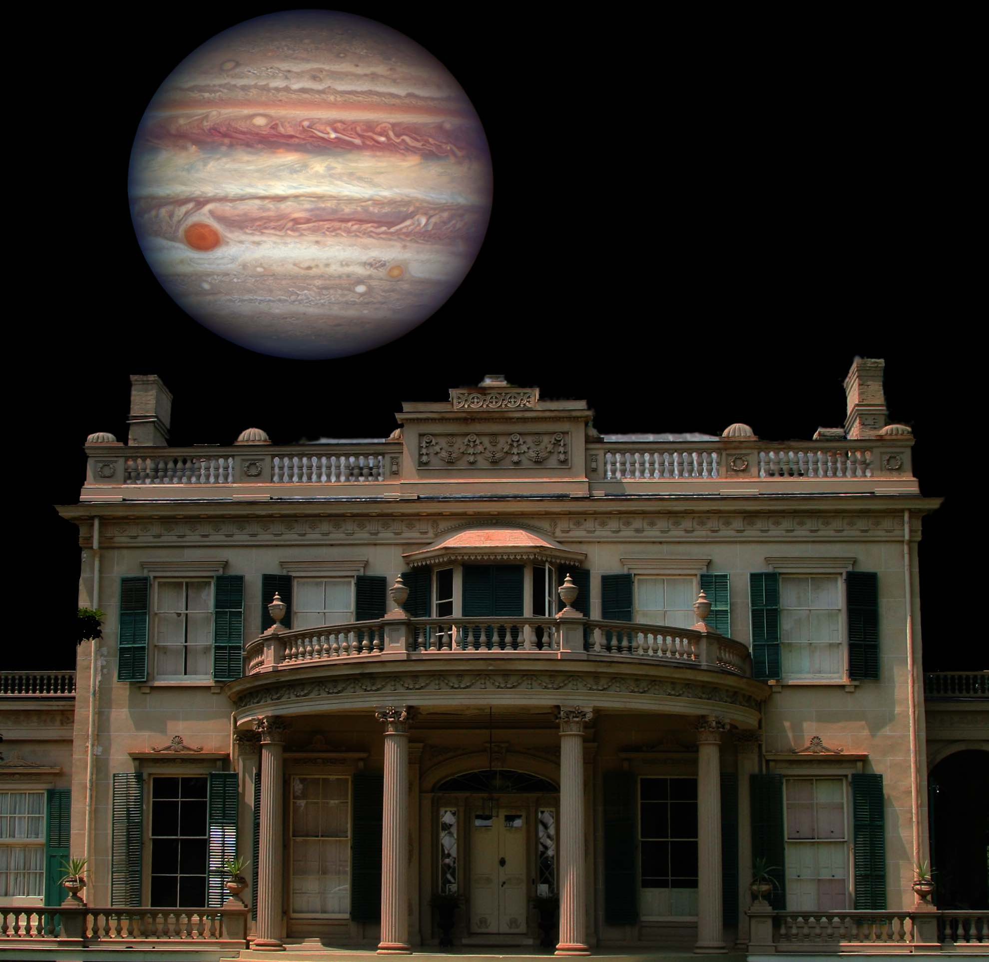 [Astronomy Night:Jupiter over Montgomery Place]