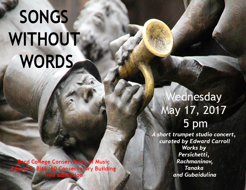 [SONGS WITHOUT WORDSA short trumpet concert, curated by Edward Carroll]