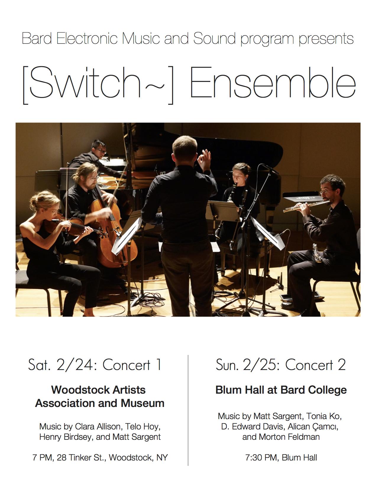 [Switch Ensemble, Electronic Music]