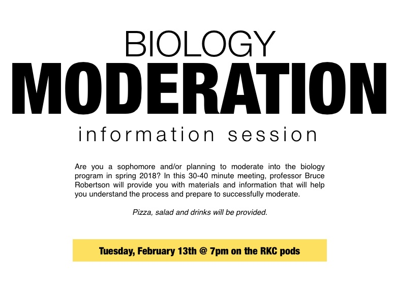 [Biology Moderation Information Session]