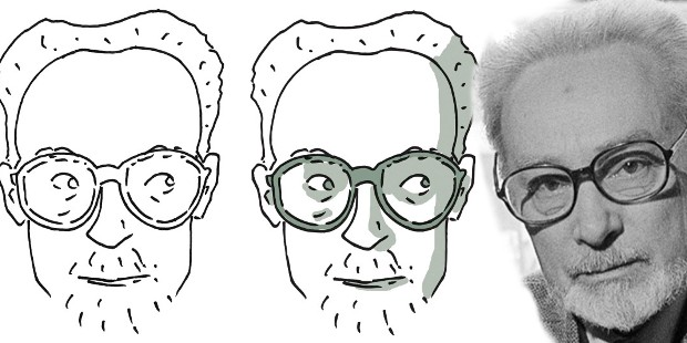 "[The Witness's Two Bodies: Primo Levi, Anne Frank, Jorge Semprún] Illustration by Pietro Scarnera, author of Una stella tranquilla (""A Tranquil Star"")"