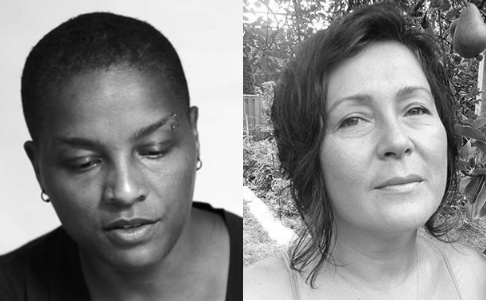 [A Reading by Dawn Lundy Martin and Hoa Nguyen] L–R: Dawn Lundy Martin; Hoa Nguyen