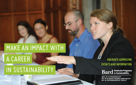 [Bard Graduate Programs in Sustainability: Open House in New York City]