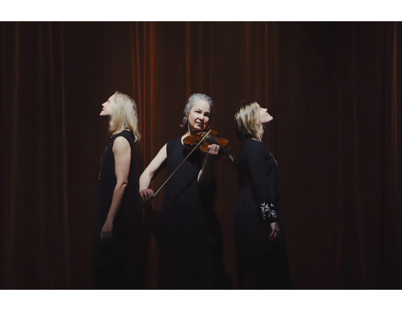 [The Blithewood Ensemble: Teresa Buchholz, voice, Erika Switzer, piano, and Marka Gustavsson, viola]