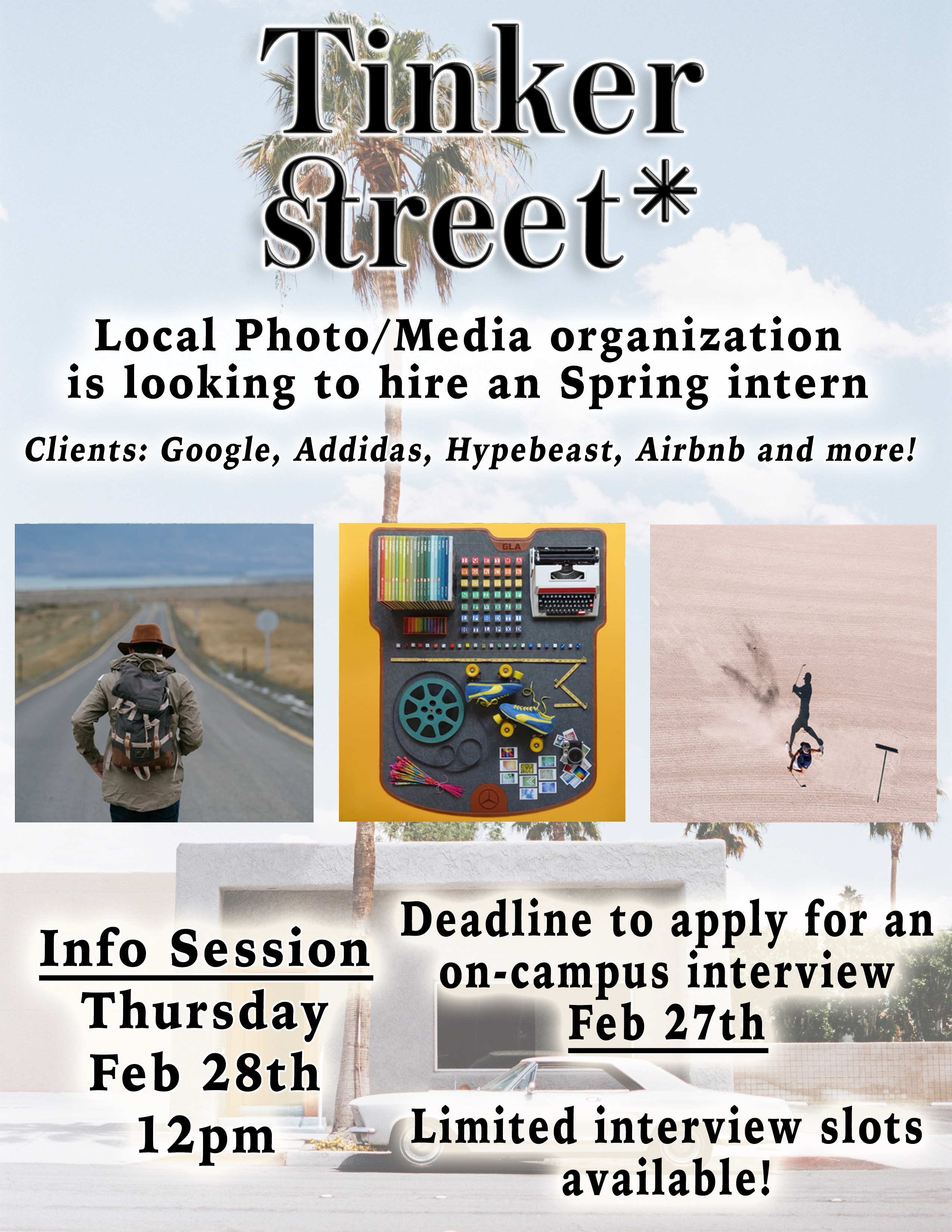 [Tinker Street Info Session *Looking for Photo/Art/New Media Intern*]