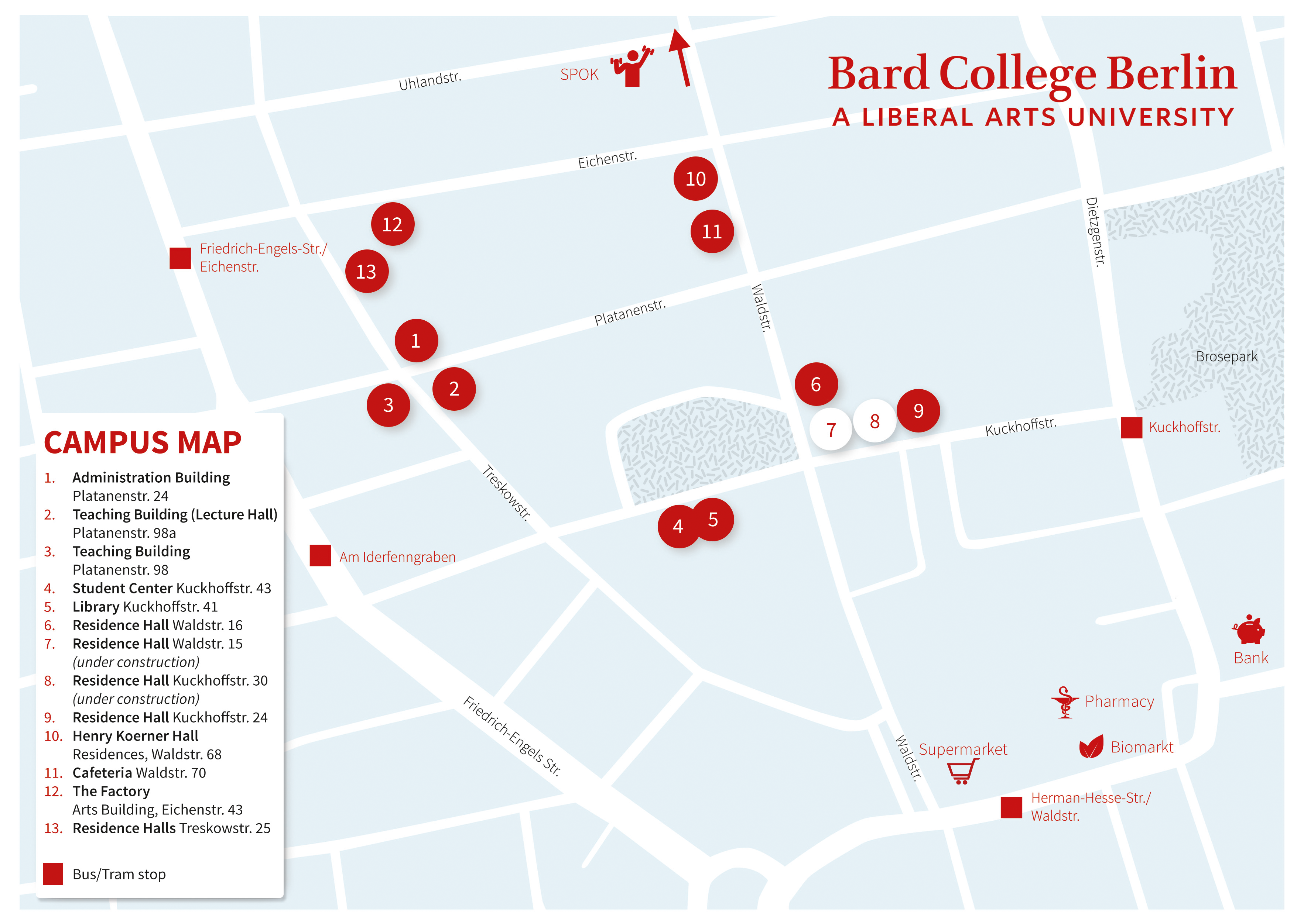 Bard College Berlin Campus Map