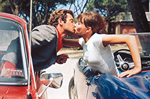 [Film: The Late Mathias Pascal] Still from Pierrot le fou.