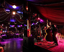 [After Hours at the Spiegeltent] Photo by Cory Weaver