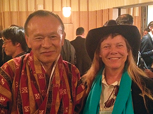 [Can Gross National Happiness Guide the Global Economy] Hunter Lovins with His Excellency, Jigmi Thinley, the Bhutanese Prime Minister