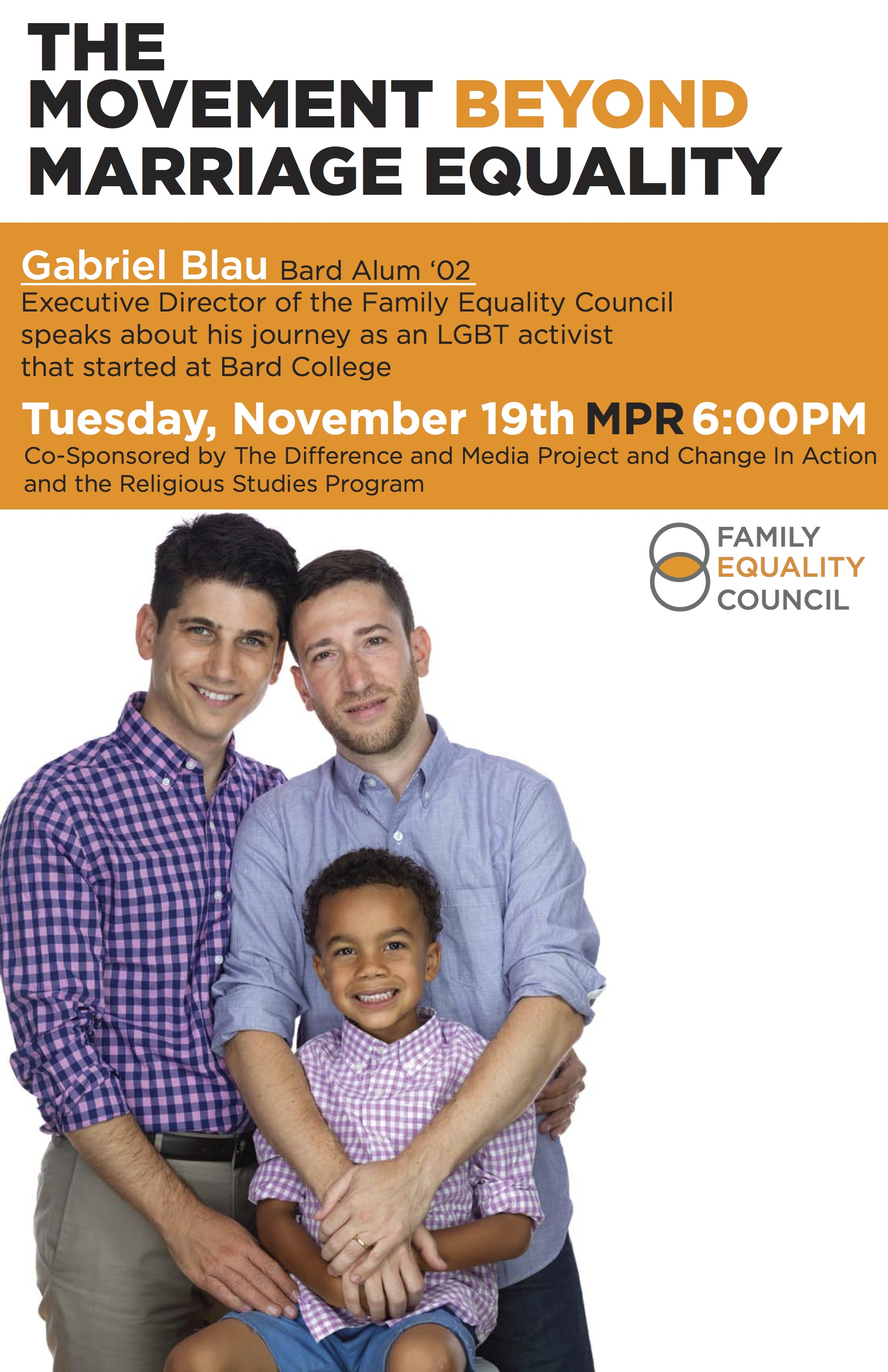 "[""The Movement Beyond Marriage Equality"" Gabriel Blau: Executive Director of the Family Equality Council]"
