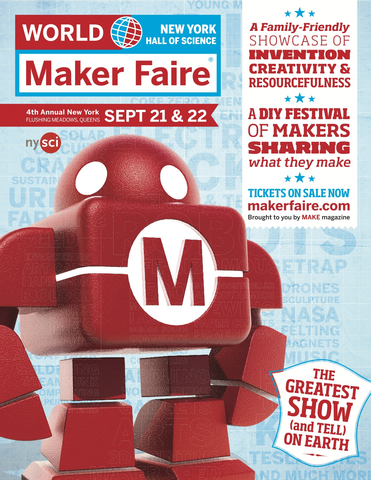 [Interested in Attending the Maker Faire on Saturday, September 21?]